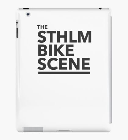 the STHLM BIKE SCENE iPad Case/Skin