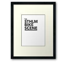 the STHLM BIKE SCENE Framed Print