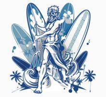 poseidon surfer  Kids Tee