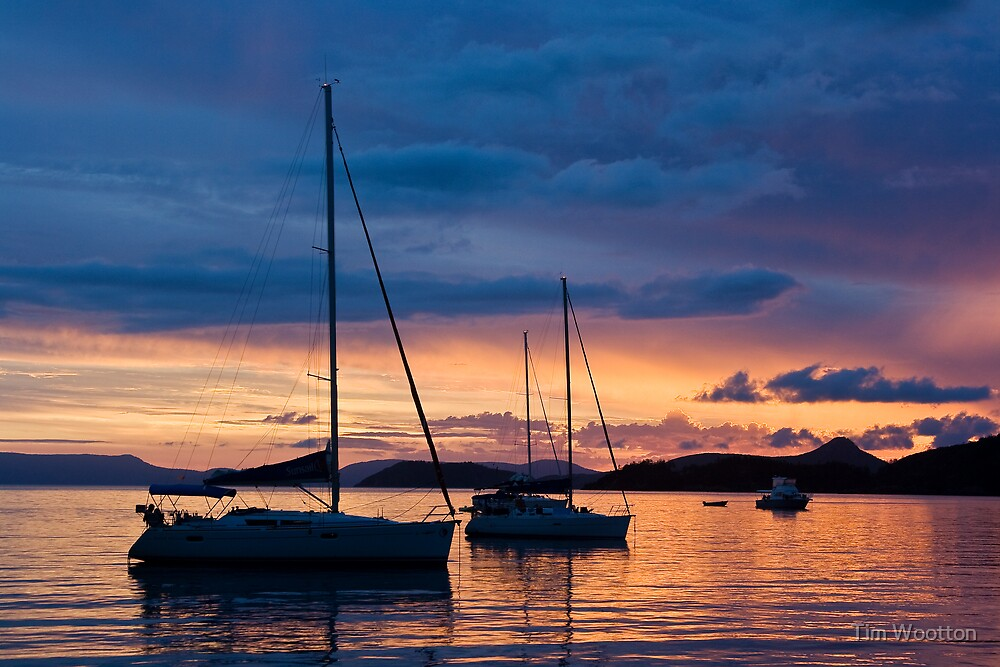 Sunset at Chance Bay by Tim Wootton