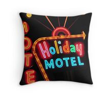 Holiday Motel Throw Pillow