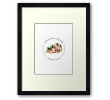 Tropicana Lounge Hula Girl 2 Framed Print