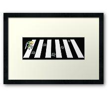 cross the road Framed Print