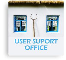 User support office Canvas Print