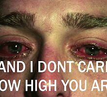 AND I DON'T CARE HOW HIGH YOU ARE by RyanPatric