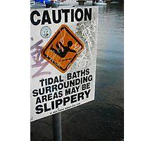 Slippery When Wet: Como Marina NSW 4 January 2009 Photographic Print