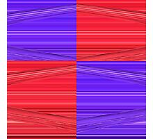 Purple and Red Lines Design Photographic Print