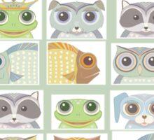 Portraits Of Animal Friends Sticker