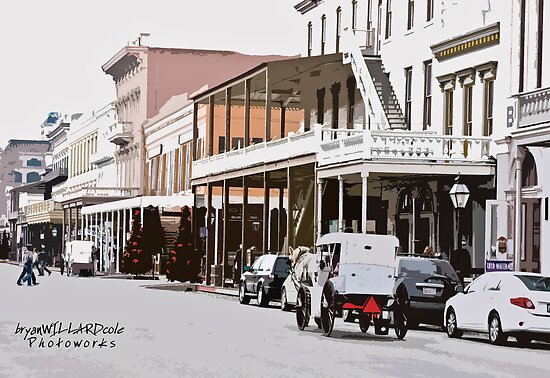 Sunday In Old Sacramento by Bryan W. Cole