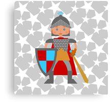 Brave medieval knight Canvas Print