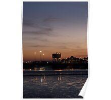 Fleetwood Docks at Dusk Poster