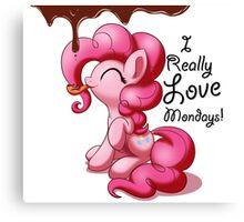 Pinkie Pie Love Mondays! Canvas Print