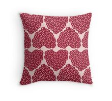 Floral hearts Throw Pillow