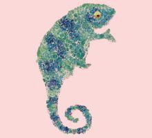 Chameleon Lizard Green Kids Tee