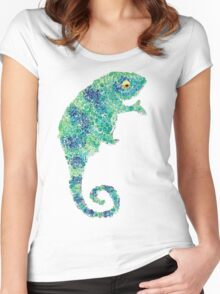 Chameleon Lizard Green Women's Fitted Scoop T-Shirt