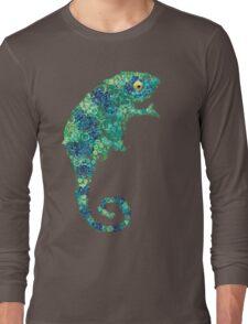 Chameleon Lizard Green Long Sleeve T-Shirt