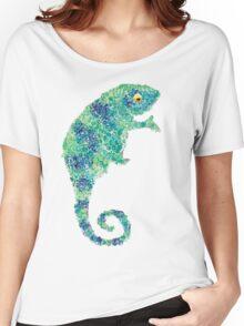 Chameleon Lizard Green Women's Relaxed Fit T-Shirt