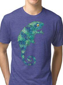 Chameleon Lizard Green Tri-blend T-Shirt