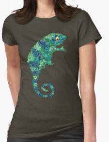Chameleon Lizard Green Womens Fitted T-Shirt