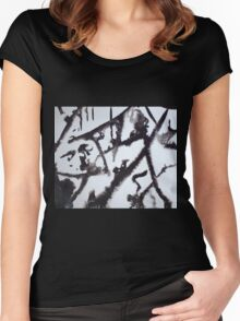 EVENING AFTER FRESH SNOW FALL(C2000) Women's Fitted Scoop T-Shirt
