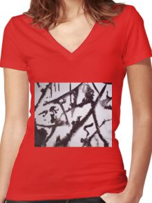 EVENING AFTER FRESH SNOW FALL(C2000) Women's Fitted V-Neck T-Shirt