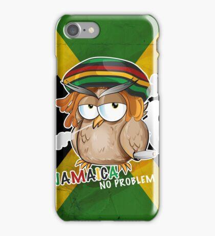 jamaican owl cartoon  iPhone Case/Skin