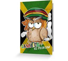 jamaican owl cartoon  Greeting Card