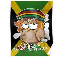 jamaican owl cartoon  Poster