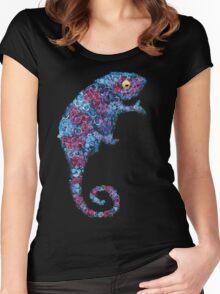 Chameleon Blue Women's Fitted Scoop T-Shirt