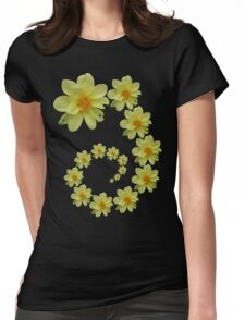 Yellow Flower 1 Womens Fitted T-Shirt