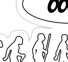 Evolution of Librarian Man Sticker