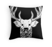 Deer Beard Throw Pillow