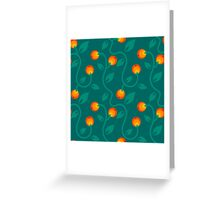 pattern with berry Greeting Card