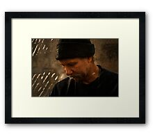 These Times Weigh Heavy Framed Print