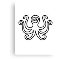 Octopus smile Canvas Print