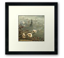 detail of a foggy morning... Framed Print