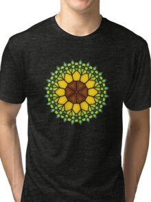 Abstract sunflower - Voronoi Tri-blend T-Shirt