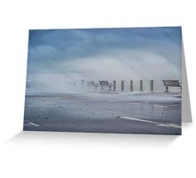 Strong wind Greeting Card