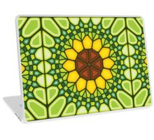 Abstract sunflower - Voronoi Laptop Skin