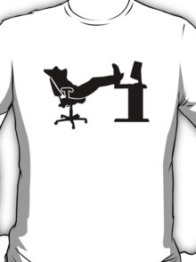 Lazy relaxing office worker T-Shirt