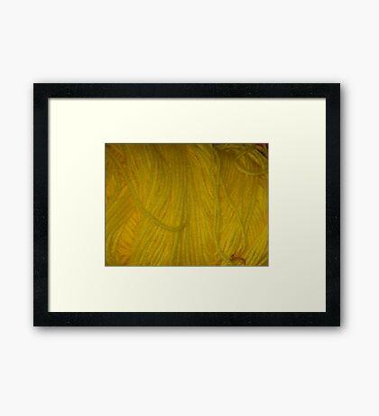 Yellow Yarn Framed Print