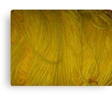 Yellow Yarn Canvas Print