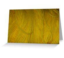 Yellow Yarn Greeting Card