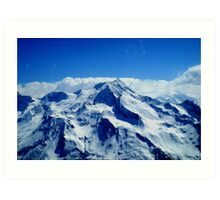 View From The Piste Art Print