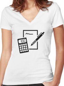 Office equipment Women's Fitted V-Neck T-Shirt