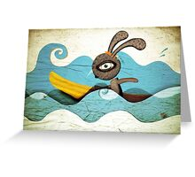 Surfing Waves Swirls Greeting Card