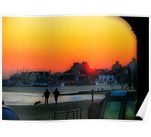 Lyme Regis Sunset Poster
