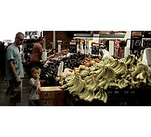 Kid in south melbourne market Photographic Print
