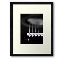 guitar Strings Framed Print