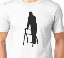 Old person man walking frame Unisex T-Shirt